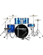 Percussie drums volwassenen kinderen zelflerende jazz-trommel beginners percussie-instrumenten professionele spelen trommelset kinderspeelgoed (kleur: blauw)