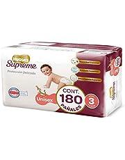 Huggies Supreme Pañal Desechable para Bebé, Etapa 3 Unisex, Caja con 180 Piezas, Ideales para niños de 7 a 10 kg