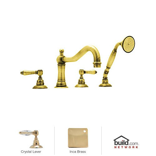 (Rohl A1404LCIB Country Bath Roman Tub Filler Faucet with Single Function Hand Shower, Inca)