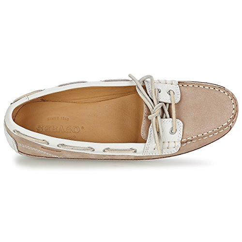 Shoes Women's Sebago WHITE TAUPE Boat Bala O8qwaxnZB