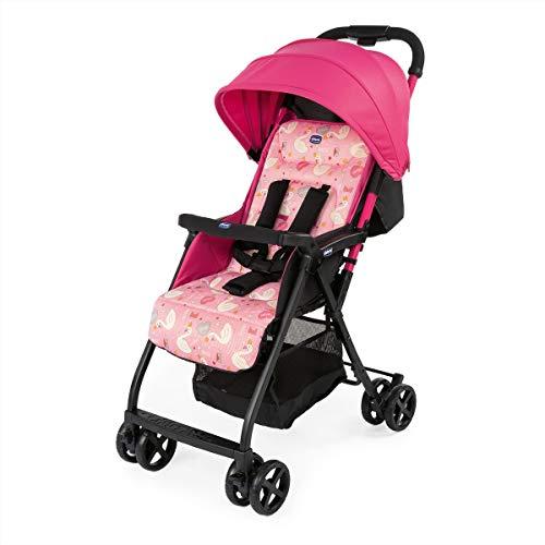Chicco Ohlala 2 - Silla de paseo ultra ligera y compacta, facil conduccion, solo pesa 3,8 kg, color rosa cisnes (Pink Swan)