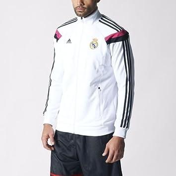 adidas Real Madrid – Himno de poliéster Chaqueta de chándal Parte ...