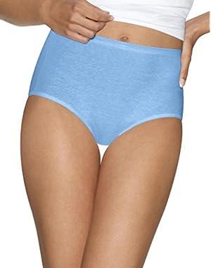 Hanes Women's 2Pack Assorted Cotton Briefs Ladies Panties Underwear 11