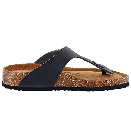 Black Women's Sandal Footbed 5 Cork SoftMoc Thong Angy O0q4x4w8