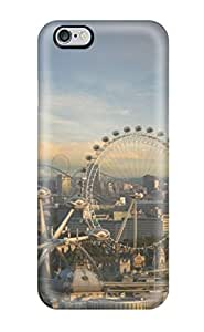 Iphone 6 Plus Cover Case - Eco-friendly Packaging(city Sci Fi Ferris Wheel People Sci Fi)