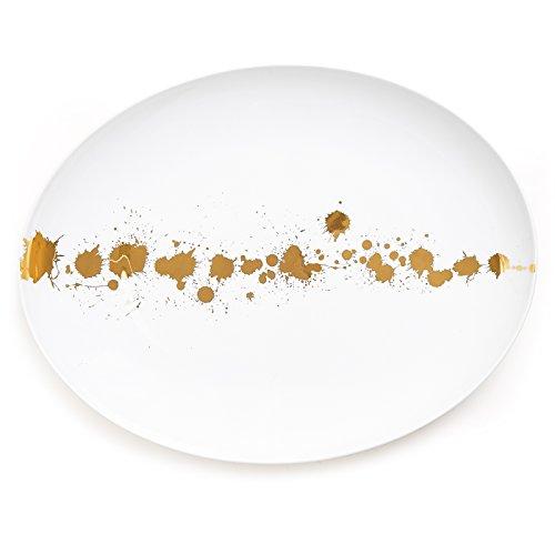 Jonathan Adler 21257 1948 Oval Plate, Gold by Jonathan Adler