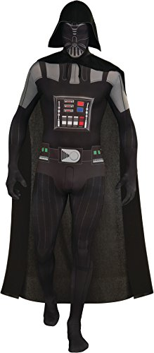 Darth Vader In Suit (Rubie's Costume Star Wars Darth Vader 2nd Skin Full Body Suit, Black, Medium Costume)