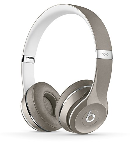 Beats Solo2 WIRED On-Ear Headphones Luxe Edition NOT WIRELESS - Silver (Certified Refurbished) by Beats