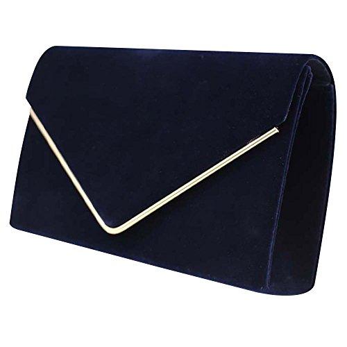Wiwsi body Cross Design New Navy Bags Blue Velvet Orange Chain Clutch Fashion Women Soft Shoulder C4qwt4AZ