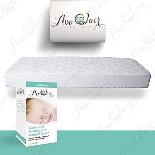 acc pack n play crib mattress pad cover fits all mini cribs waterproof u0026 dryer friendly best fitted crib protector mini u0026 portable mattresses