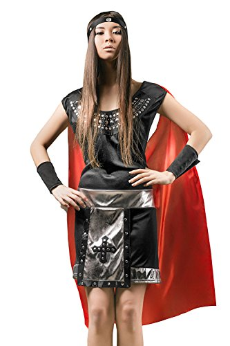 Adult Women Warrior Princess Halloween Costume Sassy Amazons Dress Up & Role Play (Xena Amazon Costume)