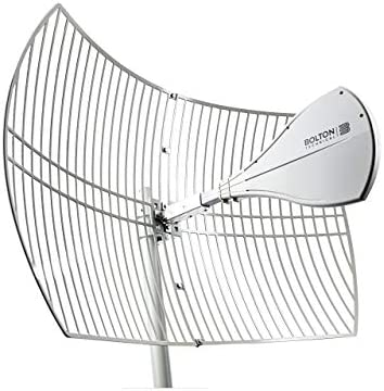 Bolton Technical Long Ranger Antenna | 2021 Parabolic - Over 10 Miles Range | All Cell Bands: 5G, 4G, LTE | WiFi 2.4/5 GHz WiFi 6 | High Gain Cellular/WiFi Antenna as much as +28 dB | All Carriers