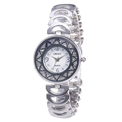 NXDA Women's wrist watch fashion sun pattern diamond dial luxury bracelet watch quartz sports watch analog display ()