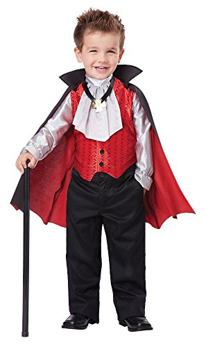 Toddler Vampire Costumes (California Costumes Dapper Vampire Costume, One Color, 4-6)
