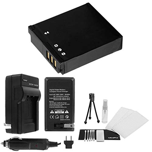 IA-BP125A High-Capacity Replacement Battery with Rapid Travel Charger for Select Samsung Digital Cameras. UltraPro Bundle Includes: Camera Cleaning Kit, Screen Protector, Mini Travel Tripod