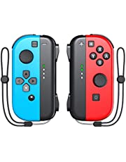 Switch Joy-Pad Controller for Nintendo Switch, KDD Joy Controllers Replacement Compatible with Nintendo Switch- Red/Blue photo