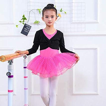 OCEAN-STORE Kids Girls 2-10 Years Gymastics Leotard Dance Ballet Training Dancewear Crossover Wrap Outfits