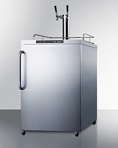 Summit SBC635MOS7TWIN Wine Dispenser, Stainless-Steel