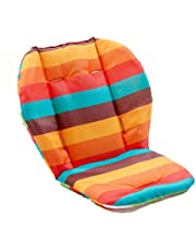 Universal Baby High Chair Cushion Pad, Soft Cotton Infant Stroller Breathable Waterproof Seat Cover Pad (rainbow stripe)