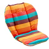 Baby Stroller/Car/High Chair Seat Cushion Liner Mat Pad Cover Protector Rainbow Striped Breathable Water Resistant
