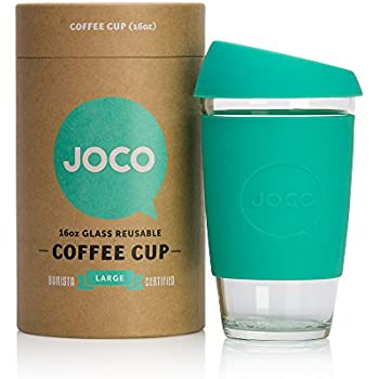 JOCO 16oz Glass Reusable Coffee Cup (Mint)