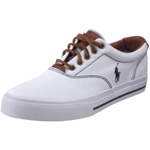 Polo Ralph Lauren Men's Vaughn Fashion Sneaker, White, 10 D US