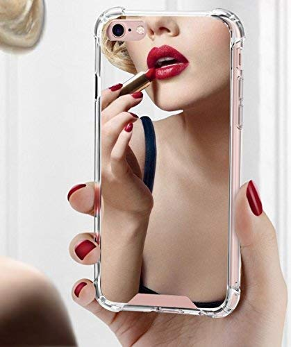 Viromo - Mirror Cases for Apple iPhone 8 / iPhone 7 for Girls Womens - Protective Silicone Slim Case New Rubber Bumper Cool Cute Ultra Thin Shockproof Grip Phone Case Stylish Luxury Silver Back Cover