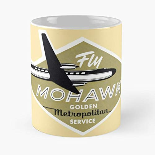 Mohawk Airlines Vintage Aviation Retro - Coffee Mugs Unique Ceramic Novelty Cup Best - Airlines Mohawk