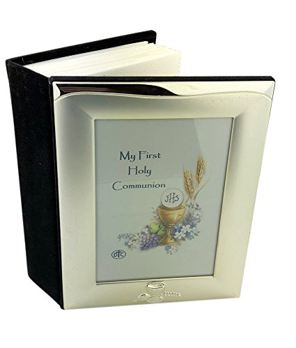 Silver Toned Frame Topped First Communion Photo Album, for sale  Delivered anywhere in USA