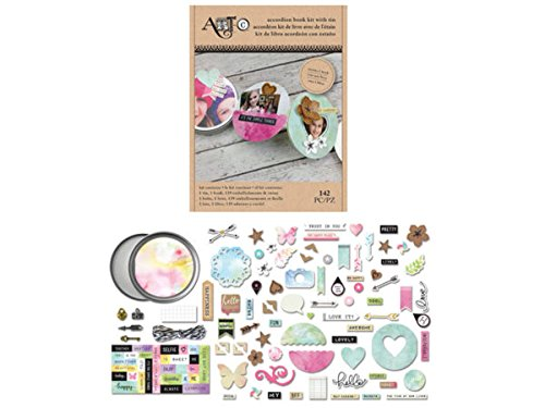 Circular Accordion Book Tin Craft Kit - Pack of 80 by bulk buys