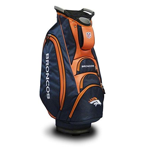 Team Golf NFL Denver Broncos Victory Golf Cart Bag, 10-way Top with Integrated Dual Handle & External Putter Well, Cooler Pocket, Padded Strap, Umbrella Holder & Removable Rain Hood ()