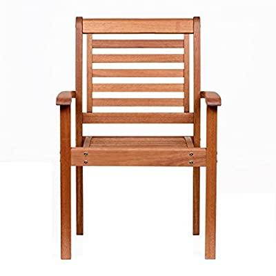 Amazonia Stackable Eucalyptus Chair - Amazonia Eucalyptus Collection Armchair Dimensions: 20Lx24.5Wx35H. Armchair Seat Dimensions: 17Dx20Wx17H. High Quality Eucalyptus Wood (Eucalyptus Grandis) - patio-furniture, patio-chairs, patio - 41IexO%2BdsZL. SS400  -