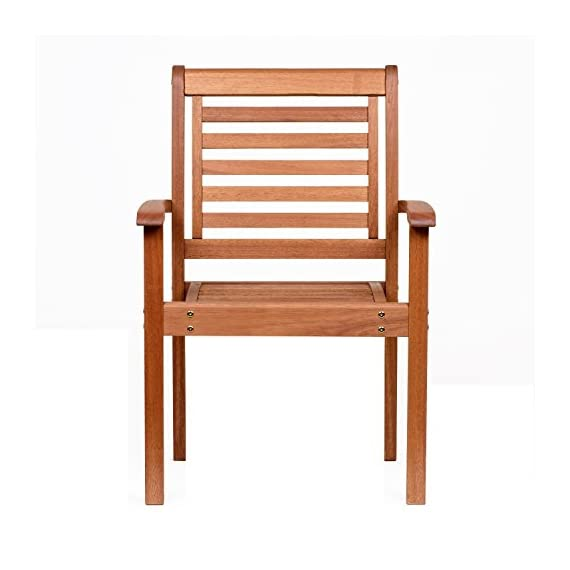 Amazonia Stackable Eucalyptus Chair - Amazonia Eucalyptus Collection Armchair Dimensions: 20Lx24.5Wx35H. Armchair Seat Dimensions: 17Dx20Wx17H. High Quality Eucalyptus Wood (Eucalyptus Grandis) - patio-furniture, patio-chairs, patio - 41IexO%2BdsZL. SS570  -