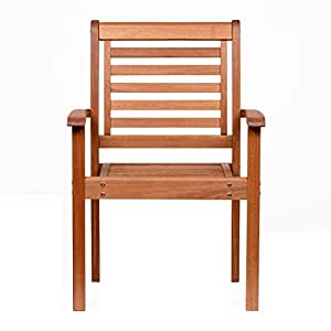 Amazonia apilable silla de eucalipto jard n for Sillas jardin amazon