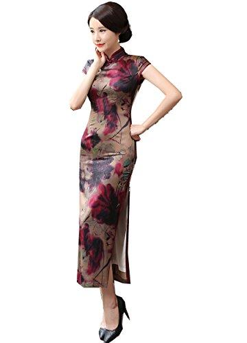 Shanghai Story Short Long China Qipao Chinese Traditional Dress Cheongsam 4 143 (Traditional Chinese Dress)