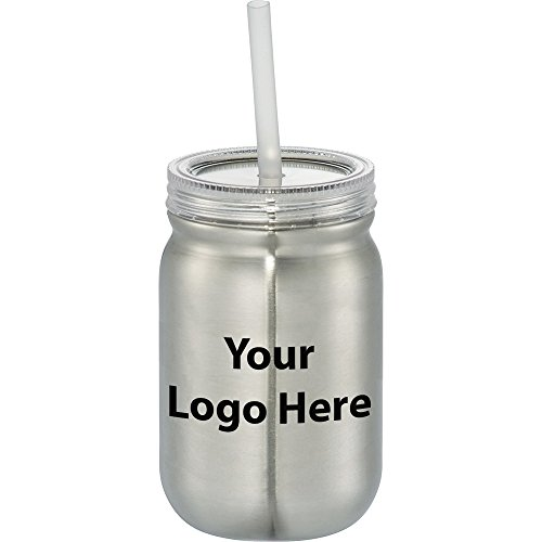 Stainless Mason Jar 24 Oz. - 48 Quantity - $8.05 Each - PROMOTIONAL PRODUCT / BULK / BRANDED with YOUR LOGO / CUSTOMIZED by Sunrise Identity