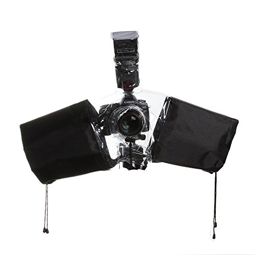 Foto4easy Waterproof Raincoat Dust Protector Rain Cover for Canon Nikon DSLR Camera
