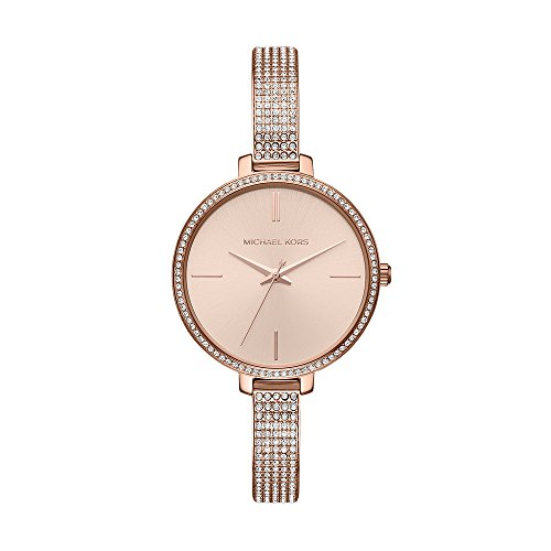 Michael Kors Women's 'Jaryn Quartz Stainless Steel Casual Watch, Color:Rose Gold-Toned (Model: - Gold Pave Watch Kors Michael