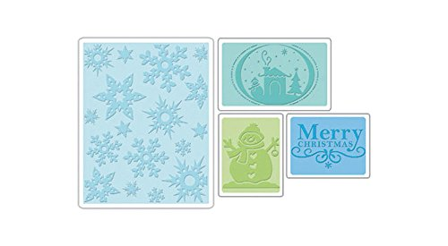 Sizzix Textured Impressions Embossing Folders 4PK - Christmas Set by Rachael Bright & E.L. Smith by Sizzix