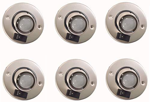Gustafson Lighting AM4019 RV Directional Reading Light Single Satin Nickel (6)