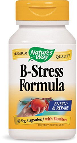 Nature's Way B-Stress Formula 60 capsules. Pack of 12 bottles by NATURE'S WAY