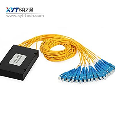 1x16 PLC Splitter fiber optic splitter ABX box type with SC/ APC connectors for GPON/EPON