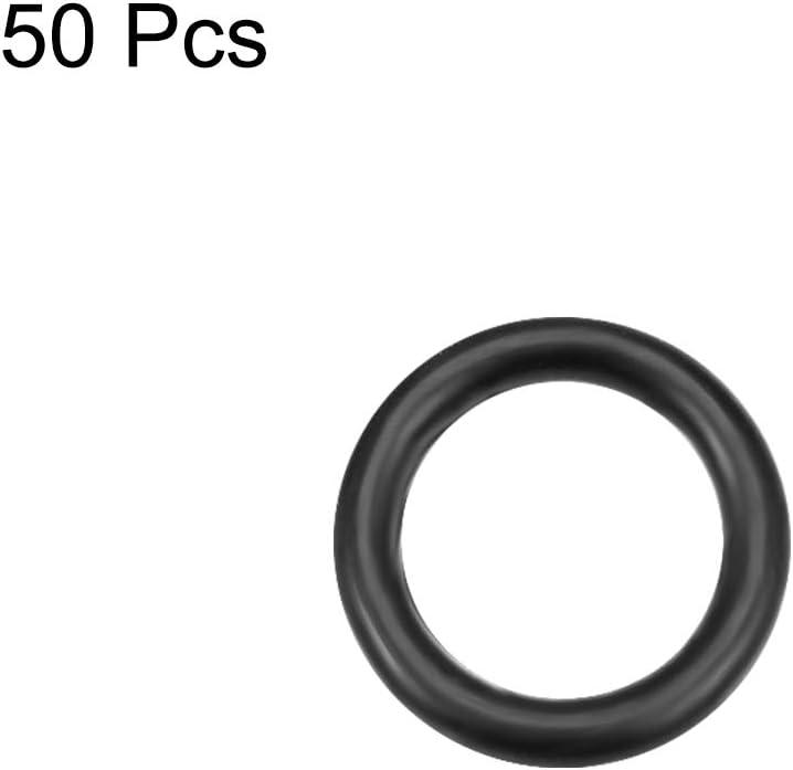 O-Rings Nitrile Rubber 4.5mm Inner Diameter 6.5mm OD 1mm Width Round Seal Gasket 50 Pcs