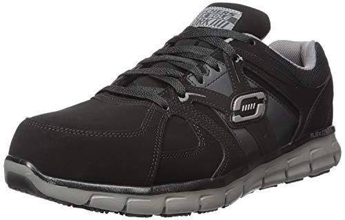 Skechers for Work Men's Synergy Ekron Walking Shoe,Black Charcoal,9.5 M US (Shoes Duty Heavy)