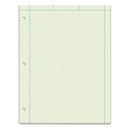 - TOPS Engineering Computation Pad, 3-Hole Punched, 8.5 x 11 Inches, 5 Squares per Inch, 100 Sheets, Green, (35510)