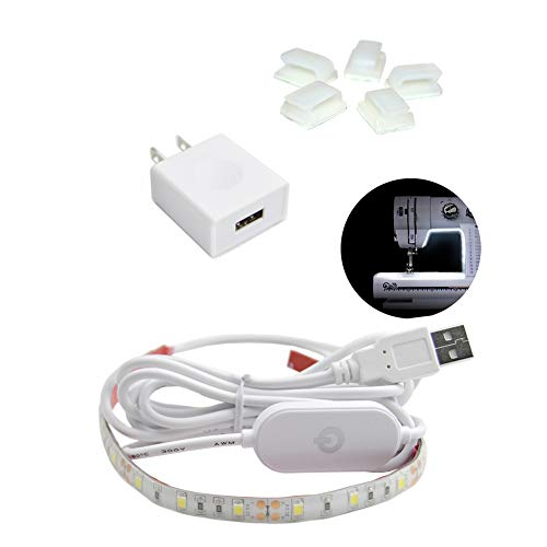 Sewing Machine Lights LED Strip kit,WENICE Machine Working LED Lights Attachable LED Sewing Light Strip Kit - 15.8inch,24LEDS-it is Longer