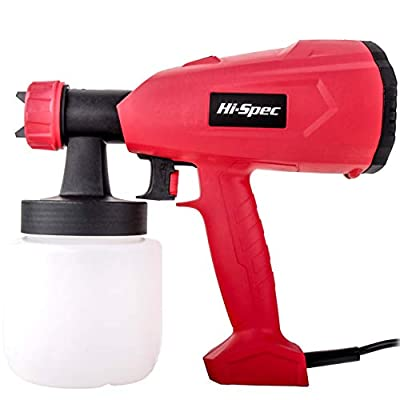 Hi-Spec Heavy Duty 2.2A Electric Paint Spray Gun with 27fl.oz. Paint Holder for Applying Paint, Lacquers, Stains, Varnish, Fine Finishes to Interior & Exterior Projects Professional Finish Sprayer