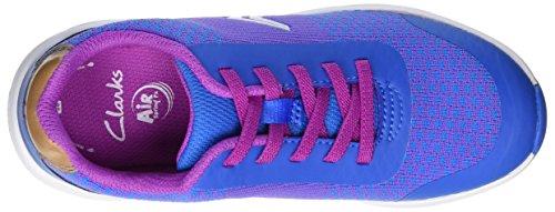 Clarks Frisby Fun Jnr, Zapatillas Para Niñas Azul (Blue Combi)