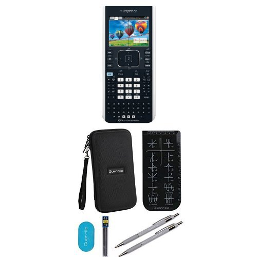Texas Instruments TI-Nspire CX Graphing Calculator With Travel Case And Essential Graphing Accessory Bundle, Black
