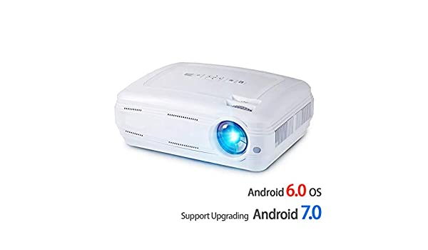 GMACCE Proyector LED, 3500 lúmenes Mejora Android 7.0 Beamer. WiFi ...